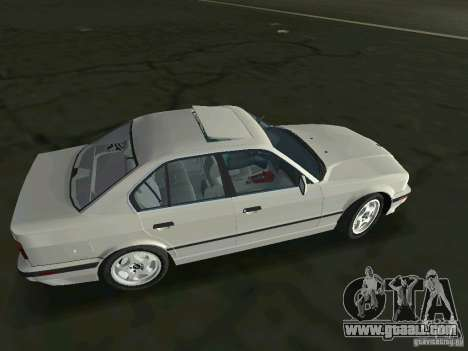 BMW 540i (E34) 1992 for GTA Vice City left view