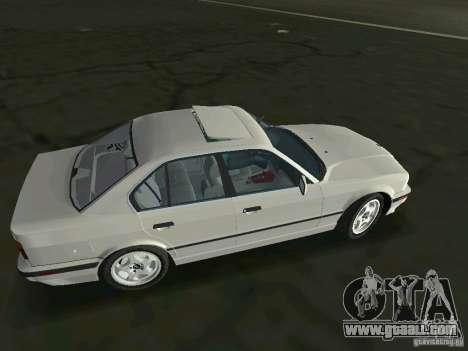 BMW 540i (E34) 1992 for GTA Vice City left view