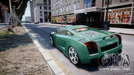 Lamborghini Gallardo for GTA 4 back left view