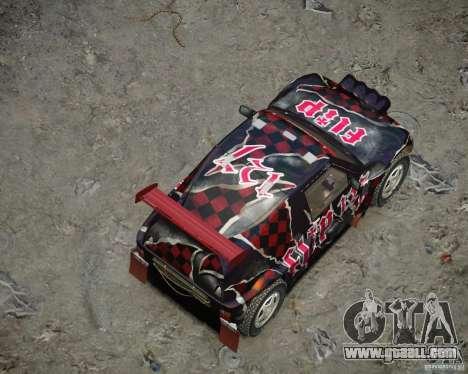 Mitsubishi Pajero Proto Dakar Vinyl 3 for GTA 4 bottom view