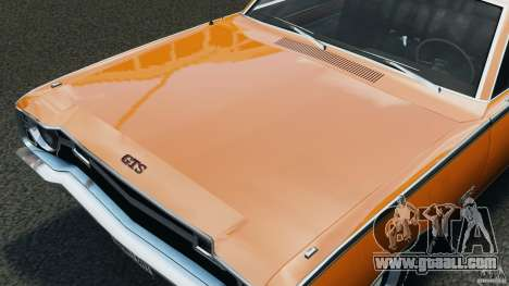 Dodge Dart GTS 1969 for GTA 4 inner view