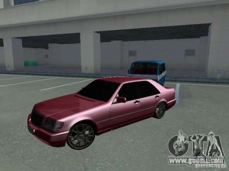 Mercedes-Benz S600 W140 v 2.0 for GTA San Andreas back left view