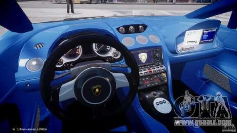 Lamborghini Gallardo LP560-4 Polizia for GTA 4 back view