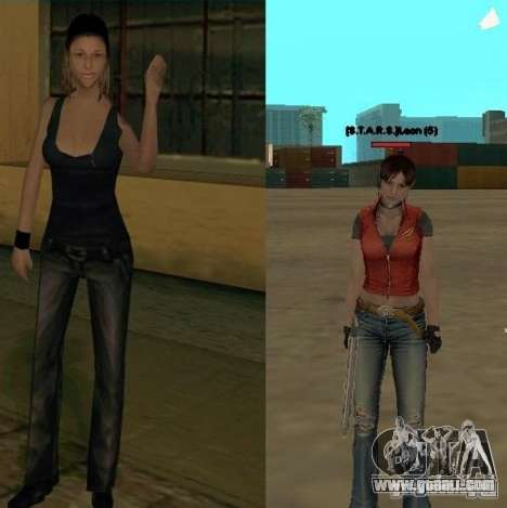 Pak characters from Resident Evil for GTA San Andreas fifth screenshot