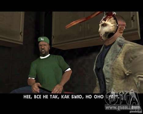 Jason Voorhees for GTA San Andreas eighth screenshot