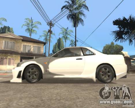 Nissan Skyline R-34 TUNED for GTA San Andreas left view