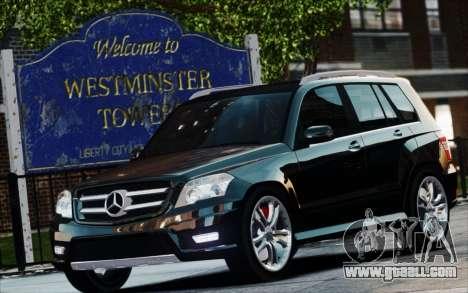 Mercedes-Benz GLK 320 CDI for GTA 4 right view