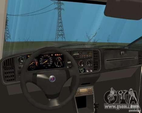 Saab 900 Turbo 1989 v.1.2 for GTA San Andreas bottom view