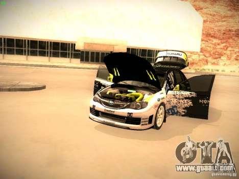 Subaru Impreza Gymkhana for GTA San Andreas back view