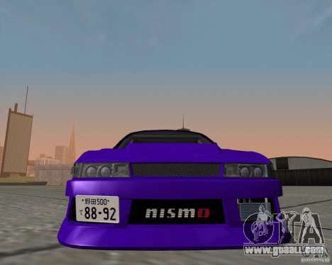 Nissan Silvia S13 Nismo tuned for GTA San Andreas back left view