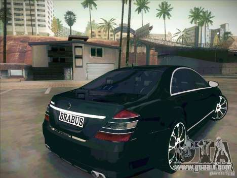 Mercedes-Benz S 500 Brabus Tuning for GTA San Andreas back left view