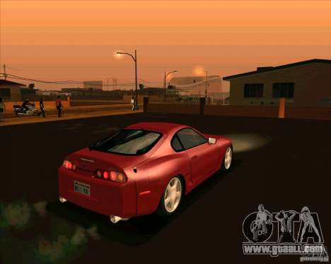 Toyota Supra NFS Most Wanted for GTA San Andreas back left view
