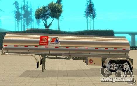 Semi Petrotr for GTA San Andreas back left view