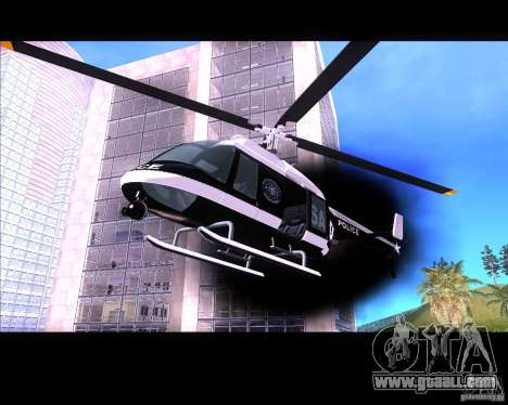 GTA IV Police Helicopter for GTA San Andreas left view