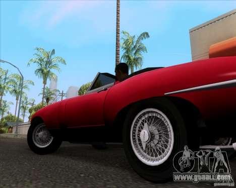 Jaguar E-Type 1966 for GTA San Andreas back view