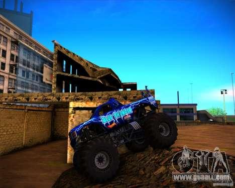 Monster Truck Blue Thunder for GTA San Andreas inner view