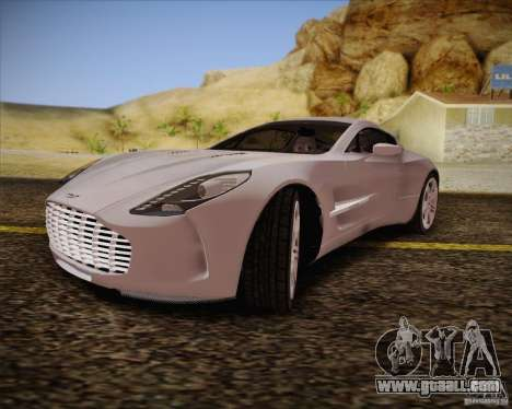 Aston Martin One-77 for GTA San Andreas back view