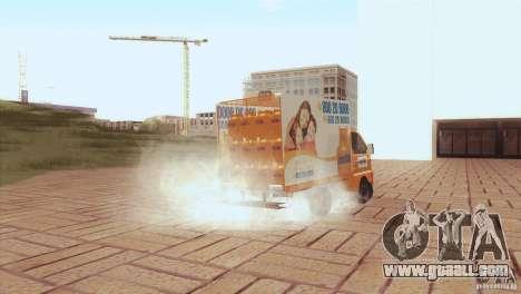 Hafei Camion de Gas for GTA San Andreas back view
