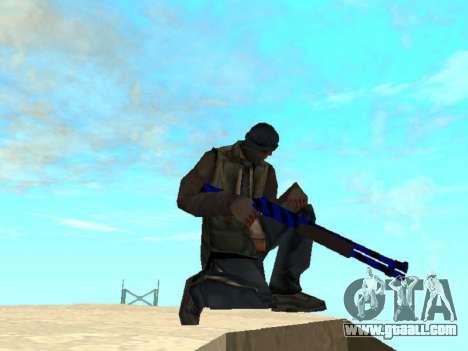 Blue and black gun pack for GTA San Andreas second screenshot