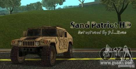 Sand Patriot HD for GTA San Andreas