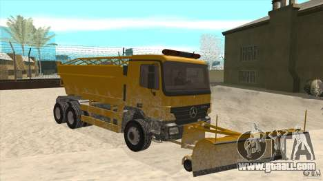Mercedes-Benz Actros Snow Blower for GTA San Andreas back view