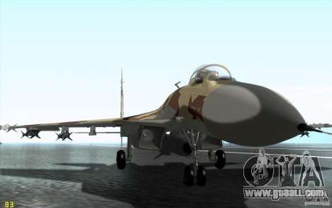 The Su-37 Terminator for GTA San Andreas left view