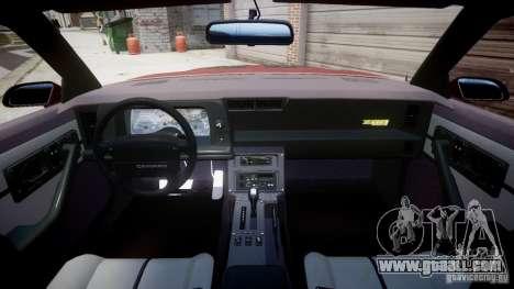 Chevrolet Camaro 1990 IROC-Z v1.5 for GTA 4 back left view