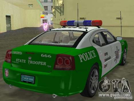 Dodge Charger Police for GTA Vice City left view