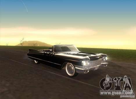 Cadillac Series 62 1960 for GTA San Andreas inner view
