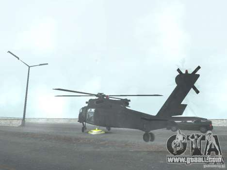 The helicopter from CoD 4 MW for GTA San Andreas left view