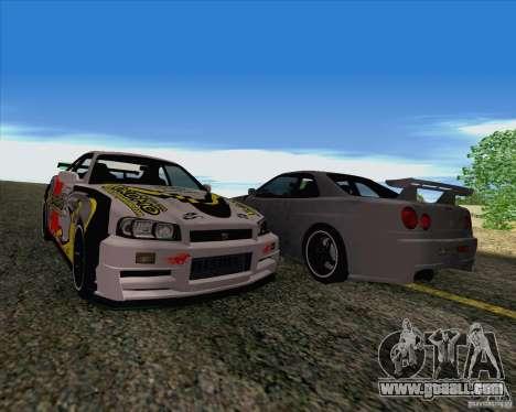 Nissan Skyline R34 Z-Tune V3 for GTA San Andreas inner view