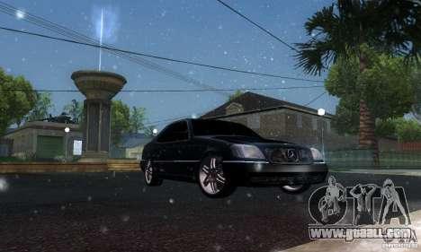 Mercedes-Benz 600SEC for GTA San Andreas inner view