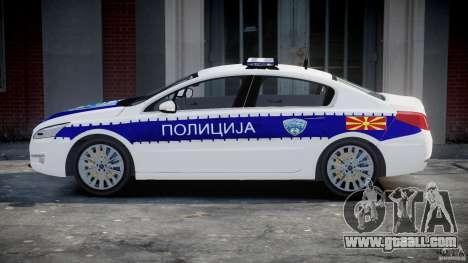 Peugeot 508 Macedonian Police [ELS] for GTA 4 inner view