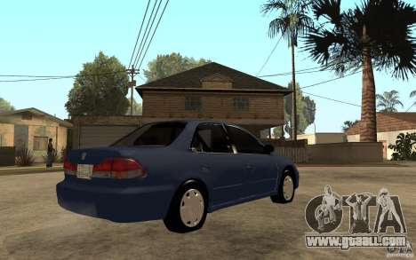 Honda Accord 2001 beta1 for GTA San Andreas right view