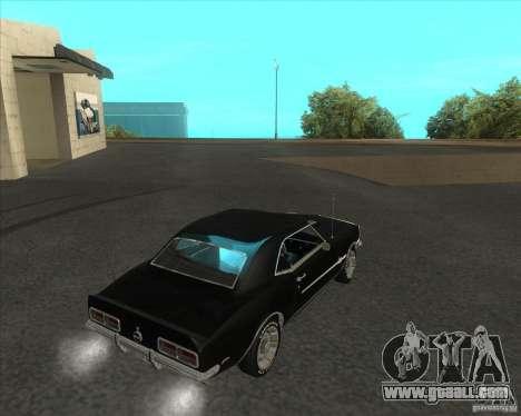 Chevrolet Camaro RSSS 396 1968 (fixed) for GTA San Andreas left view