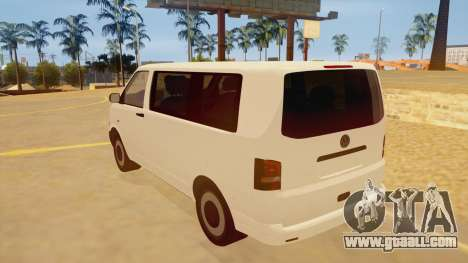Volkswagen Transporter T5 Facelift 2011 for GTA San Andreas back left view