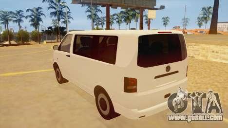 Volkswagen Transporter T5 Facelift 2011 for GTA San Andreas back left view