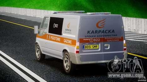 Ford Transit Usluga polski gazu [ELS] for GTA 4 back left view