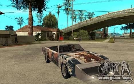 Plymouth Roadrunner Superbird Custom for GTA San Andreas back view