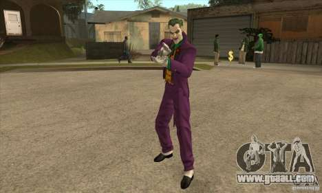 HQ Joker Skin for GTA San Andreas second screenshot