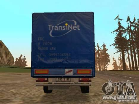 Semi-trailer for GTA San Andreas back view