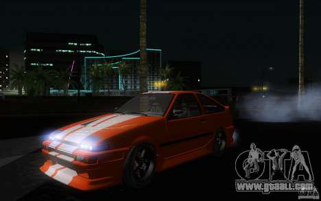 Toyota Sprinter Trueno AE86 Drift spec for GTA San Andreas inner view