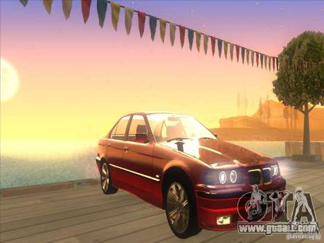 BMW E36 for GTA San Andreas inner view