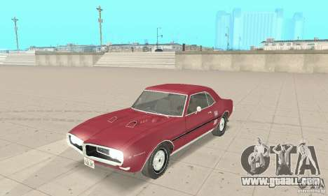 Pontiac Firebird 1968 for GTA San Andreas