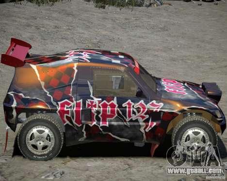 Mitsubishi Pajero Proto Dakar Vinyl 3 for GTA 4 back left view