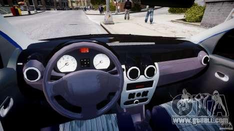 Dacia Logan 2008 [Tuned] for GTA 4 back view