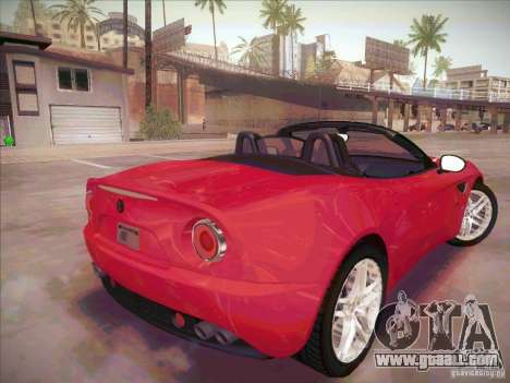 Alfa Romeo 8C Spider for GTA San Andreas back left view