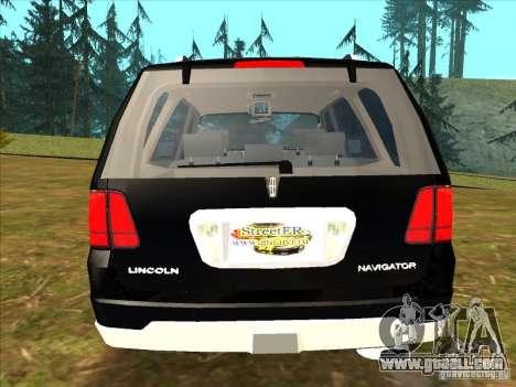Lincoln Navigator for GTA San Andreas back left view