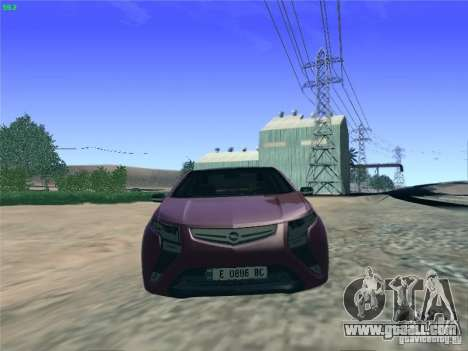 Opel Ampera 2012 for GTA San Andreas right view