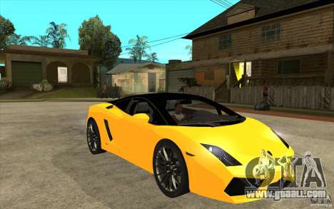 Lamborghini Gallardo LP560 Bicolore for GTA San Andreas back view